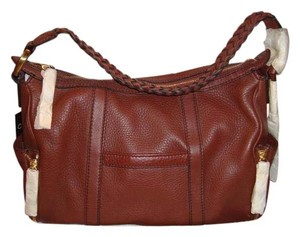 Cole Haan Leather Side Pockets Dust Cover B24466 Satchel in Whiskey