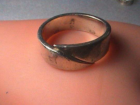 Vintage Sterling Silver Overlapped Ring