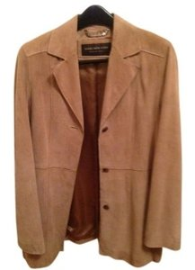 Andrew Marc light tan suede Leather Jacket