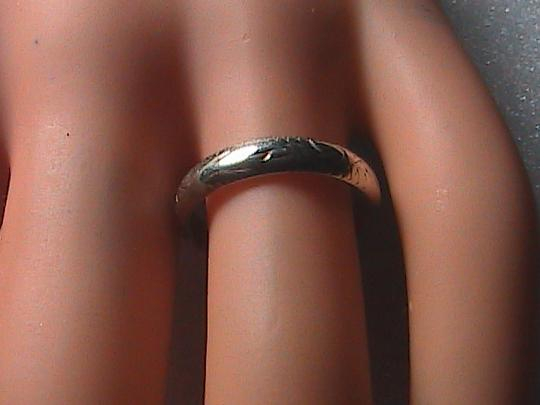 Vintage Sterling Silver Etched Band Ring Image 3
