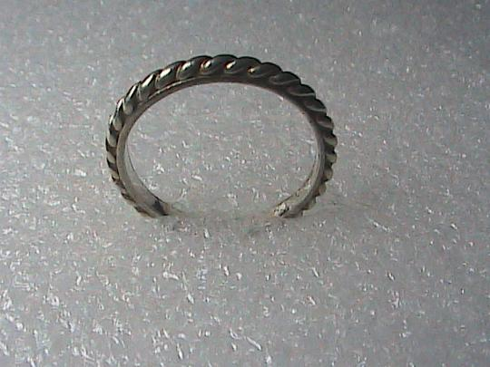 Vintage Sterling Silver Rope Band Ring