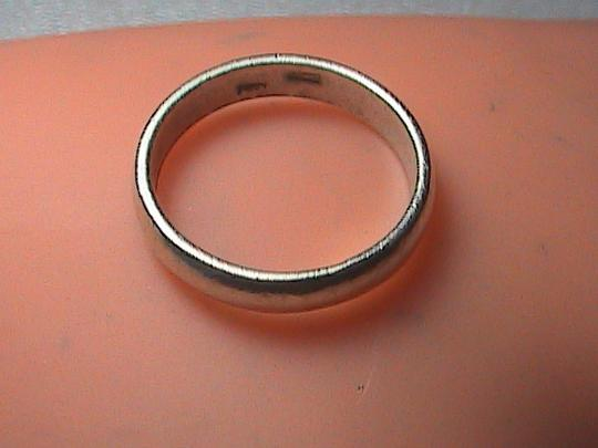 Vintage Sterling Silver Band Ring Image 2