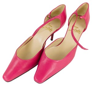 Christian Louboutin Leather Shoe Hot Pink Pumps
