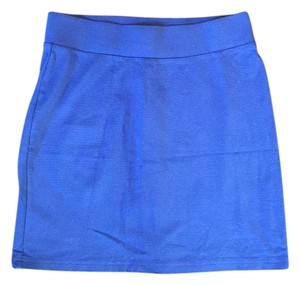 H&M Mini Skirt Cobalt Blue