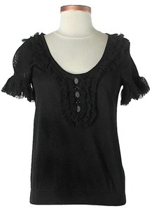 RED Valentino Ruffle Top Black