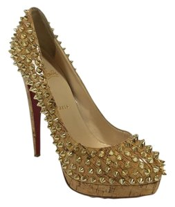 Christian Louboutin Alti Gold Pumps
