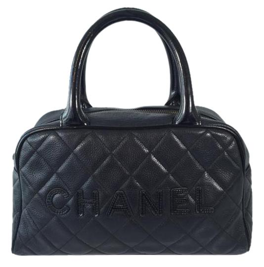 Chanel Caviar Leather Satchel in Black