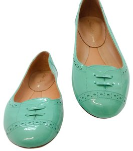 Robert Clergerie Turquoise Flats