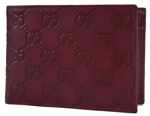 Gucci NEW Gucci Men's 292534 Wine GG Guccissima Leather W/Coin Large Bifold Wallet