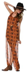 Burnt Orange Maxi Dress by RVCA