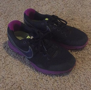 Nike Black with Purple and Lime Green accents Athletic