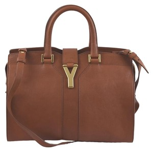 Saint Laurent Y Tote Ysl 370699 Satchel in Brown (Ranch 2A)