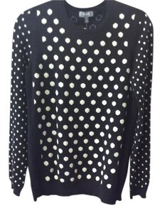 Neiman Marcus 100% Cashmere Polka Dots Sweater
