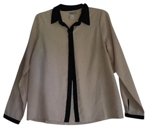 Forever 21 Top Beige and Black