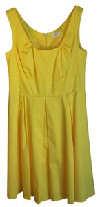 Calvin Klein short dress Yellow A-line Mid-length Fully Lined on Tradesy