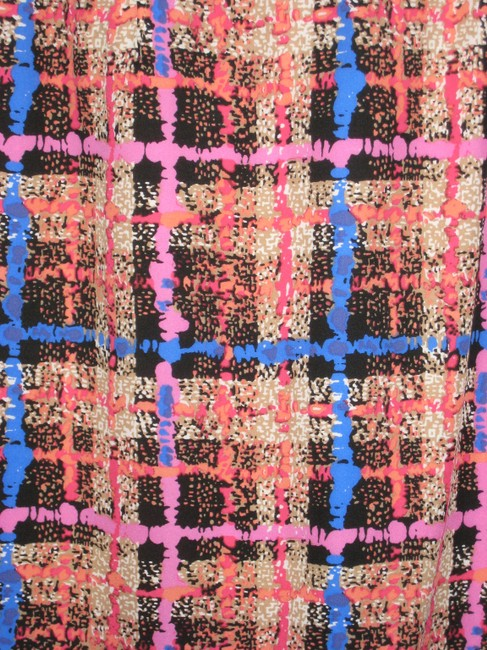 J.Crew Festive Skirt Pink/Blue/Red/Orange/Black/Brown/White - Plaid Print