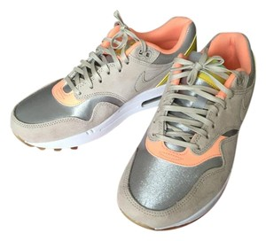 Nike Air Max Air Max 1 Silver/Beige/Coral/Chartreuse Athletic