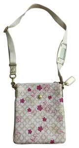 Coach Leather Floral Waverly Cross Body Bag
