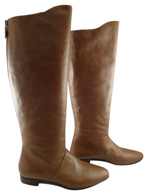 Item - Brown City Calf Leather Cognac Luggage Knee High 38 Boots/Booties Size US 8 Regular (M, B)