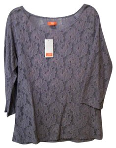 Joe Fresh Lace Patterned Lace Top lavender