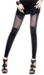 other Animal Print Rocker Fashion black and leopard Leggings