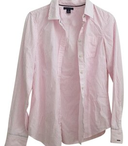 Tommy Hilfiger Button Down Shirt Pink and white