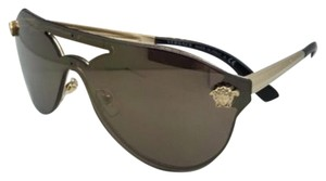 Versace New VERSACE Sunglasses VE 2161 1002/F9 Gold & Black Frames w/ Brown + Gold Mirror Lenses