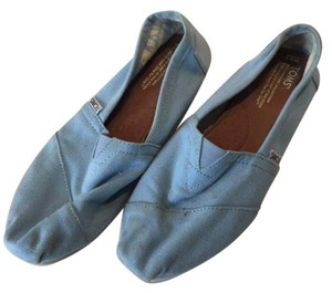 TOMS Canvas Rubber Sole Classic Light Blue Flats