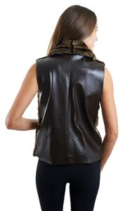 Alberto Makali Faux Fur Faux Leather Vest