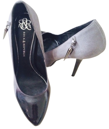 Rock & Republic Black And Gray Pumps
