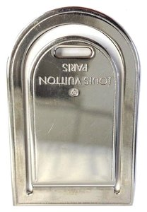 Louis Vuitton #6617 luggage Tag Money Clip Silver Stainless Steel Logo