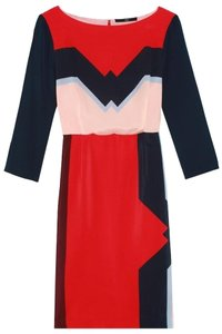 Tibi Retro Silk Office Dress