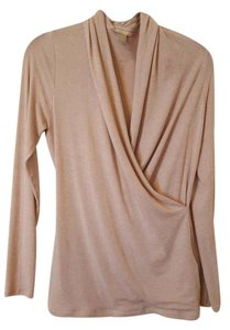 Banana Republic Faux Wrap Beige Sweater Top oatmeal