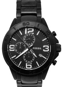 Fossil FOSSIL BQ1627 Black Stainless Steel Band Chronograph Men's Watch