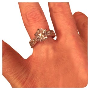 FLASH SALE THIS WEEKEND ONLY New 2ct Vintage NCSD Sona Diamond .925 Silver Ring 6