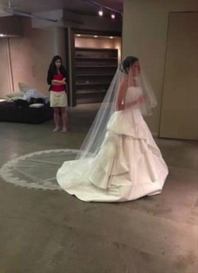 Preload https://item5.tradesy.com/images/jennifer-leigh-chantilly-lace-cathedral-length-bridal-veil-with-blusher-1593329-0-0.jpg?width=440&height=440