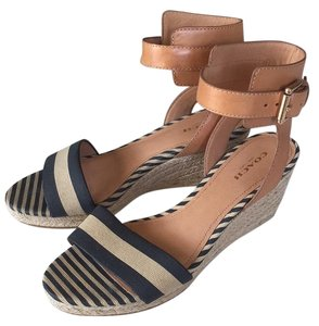 Coach Navy/khaki Wedges