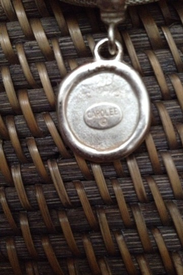 "Carole Little Carolee Vintage 18"" Silver Mesh Style Necklace"