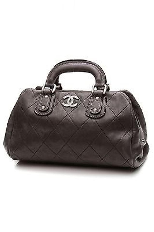 a0ea6680513f60 Chanel Distressed Caviar Leather Outdoor Ligne Doctor Satchel in Black  Image 0 ...