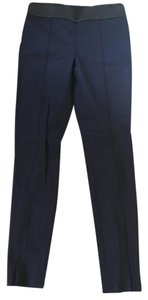Club Monaco Skinny Leather Trouser Pants Navy