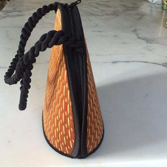 Baskets of Cambodia Tote in Black/ Copper Basketweave