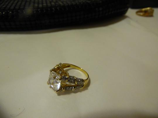 Victoria Wieck Victor Wieck of Beverly Hills .925 Sterling Silver/Vermeil Absolute Diamond Ring Size 8