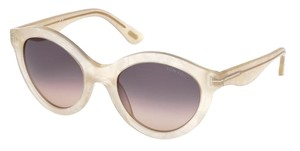 Tom Ford Tom Ford Chiara Round Sunglasses FT0359 359 21B Mother of Pearl Msrp $390.00