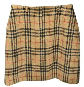 Burberry Golf Skirt Tan Signature Plaid