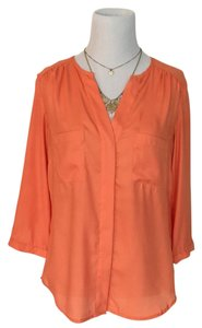 H&M Button Down Shirt Orange