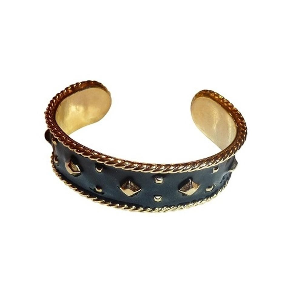 nail bracelets open in head cubic end bracelet bangle stud gold