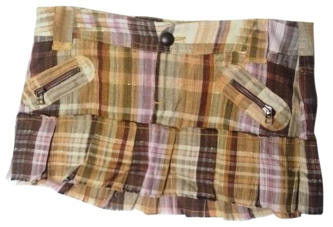 Love trfxx by Zara Mini Skirt Plaid (checkered) earth tones.