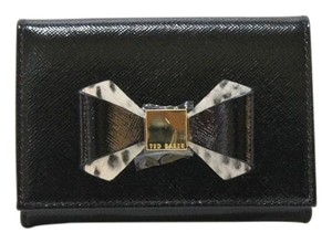 Ted Baker Ted Baker Helli Metallic Bow Mini Purse Black Wallet SOLD OUT! NWT