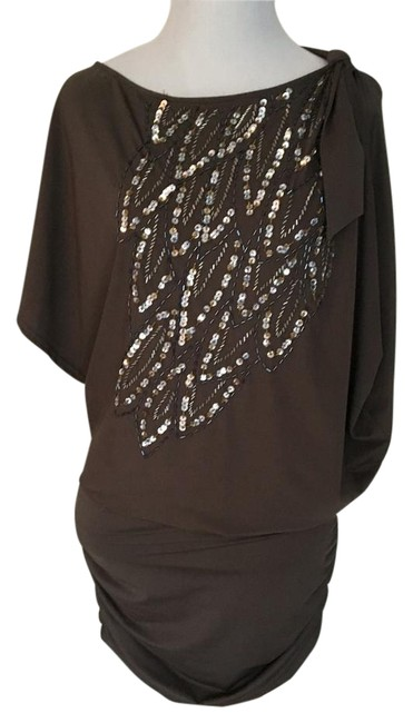 Item - Taupe Mini Night Out Dress Size 4 (S)