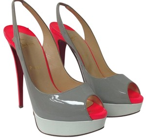 Christian Louboutin Gray and neon Pumps